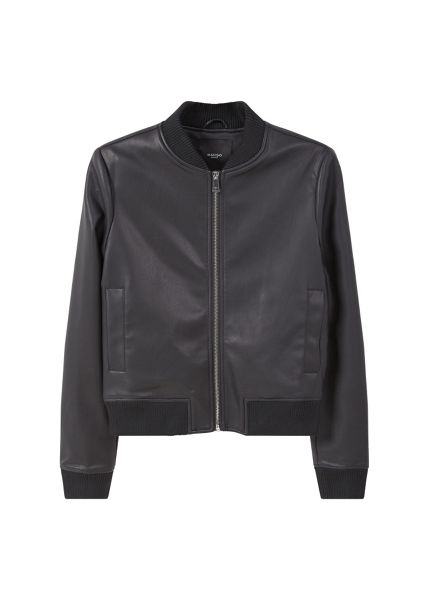 Mango Ribbed edges bomber