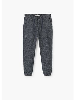 Boys Flecked cotton trousers