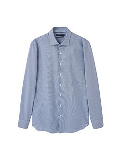 Slim-fit micro-houndstooth Tailored shirt