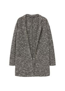 Mango Flecked cotton-blend jacket