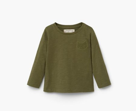 Mango Baby Embroidered cotton t-shirt