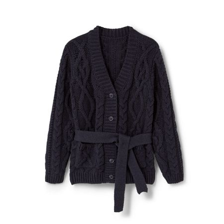 Mango Girls Cable-knit cotton cardigan