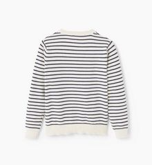 Mango Girls Striped cotton sweater