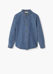 Mango Boys Printed denim shirt