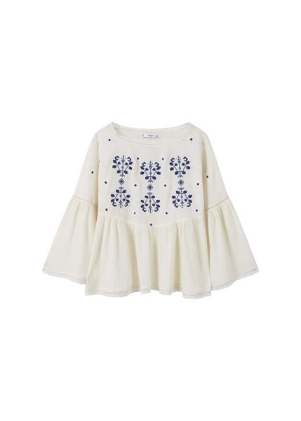 Mango Embroidered cotton blouse