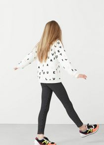 Mango Girls Printed cotton sweatshirt
