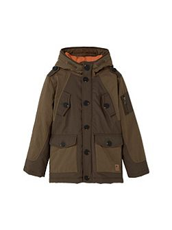 Boys Quilted hooded parka