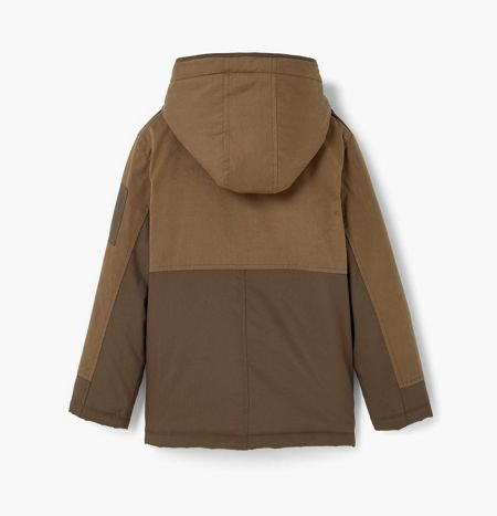 Mango Boys Quilted hooded parka