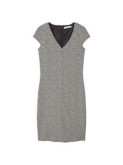 Fitted textured dress