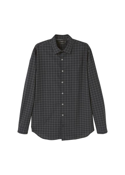Mango Slim-fit windowpane check shirt