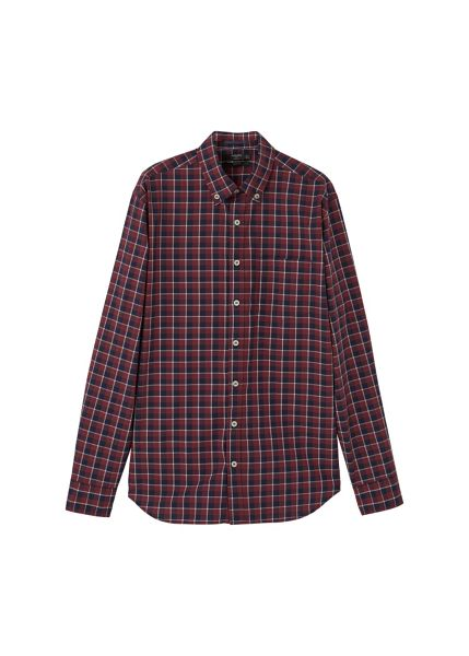 Mango Slim-fit check cotton shirt