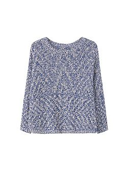 Flecked cotton-blend sweater