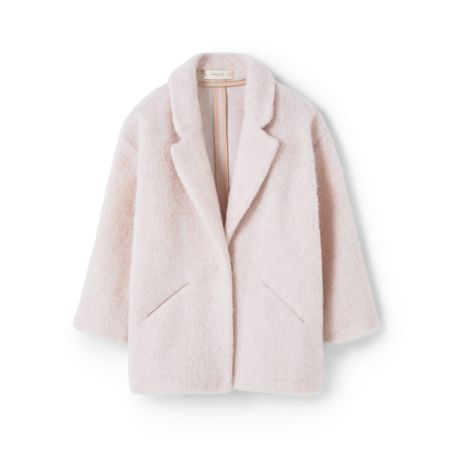 Mango Girls Mohair wool-blend coat