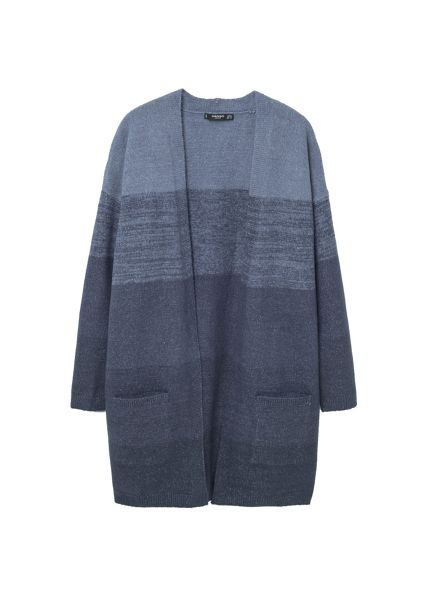 Mango Flecked panels cardigan