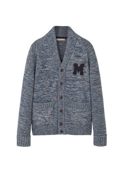 Mango Flecked cotton-blend cardigan