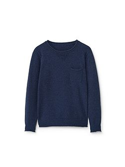 Boys Patch pocket cotton sweater