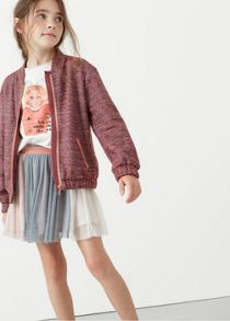 Mango Girls Contrast panels tulle skirt