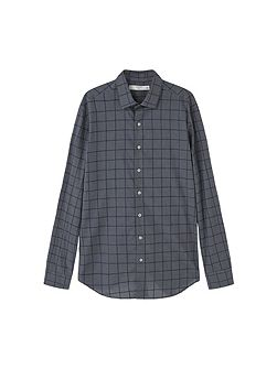 Slim-fit patterned check shirt