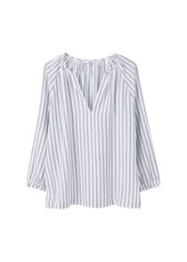 Mango Striped cotton blouse