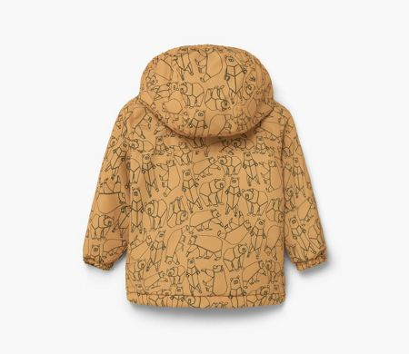 Mango Bear-Print Quilted Coat
