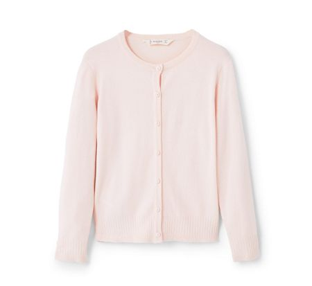 Mango Girls Ribbed detail cardigan