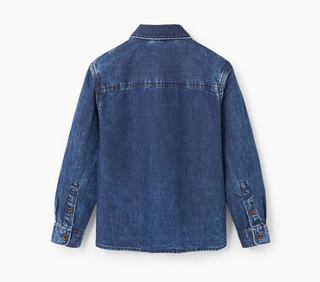 Mango Boys Embroidered denim shirt
