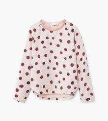 Mango Girls Polka-dot print sweatshirt