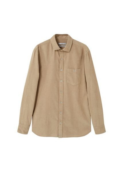 Mango Slim-fit corduroy shirt