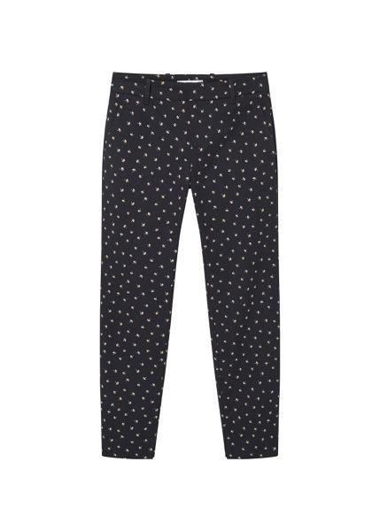 Mango Printed cotton trousers