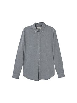 Slim-fit flecked shirt