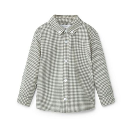 Mango Baby Cotton Checked Shirt