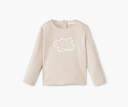 Mango Cotton-blend knit sweatshirt