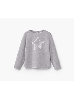 Cotton-blend knit sweatshirt
