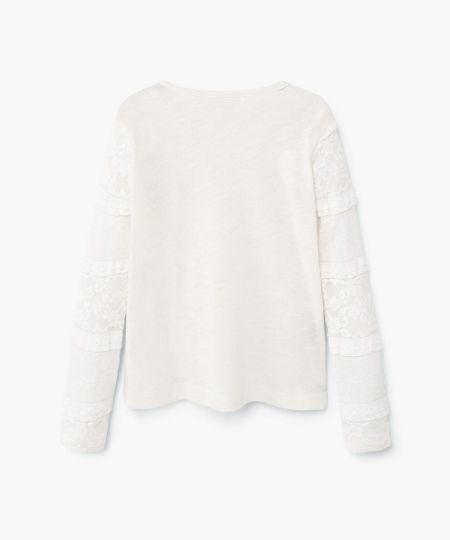 Mango Girls Lace cotton sweatshirt