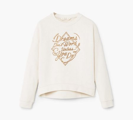 Mango Girls Metallic message sweatshirt