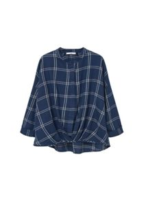 Mango Check cotton blouse