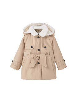 Baby Quilted Faux-Fur Coat