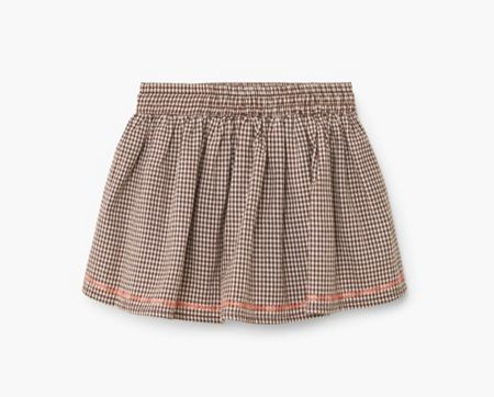 Mango Baby Girls Check cotton skirt