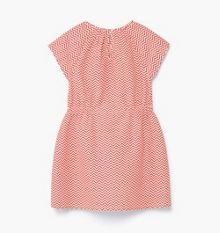 Mango Girls Zig-zag print dress