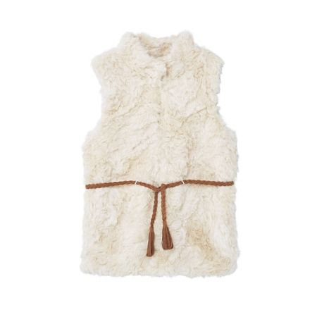 Mango Girls Faux shearling gilet
