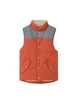 Boys Paneled quilted gilet
