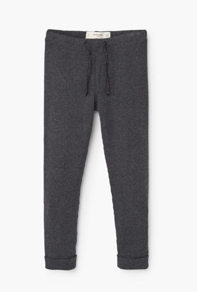 Mango Girls Ribbed trousers