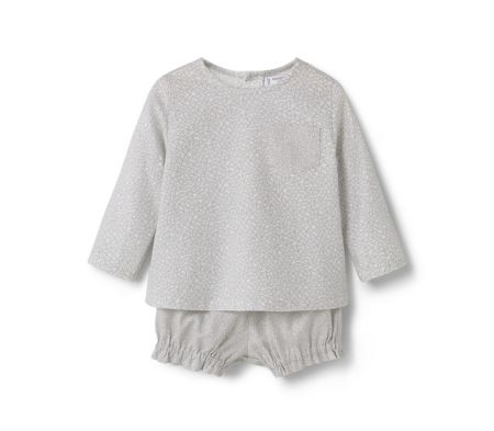 Mango Baby Cotton-Blend Outfit
