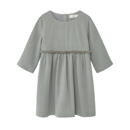 Mango Girls Flowy fringed dress