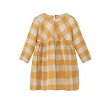 Mango Baby Checked cotton dress