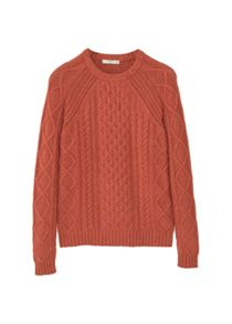 Mango Cable-knit wool-blend sweater