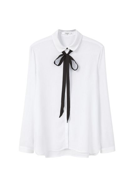 Mango Bow neck shirt