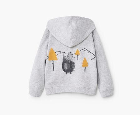 Mango Baby Printed Hooded Jumper