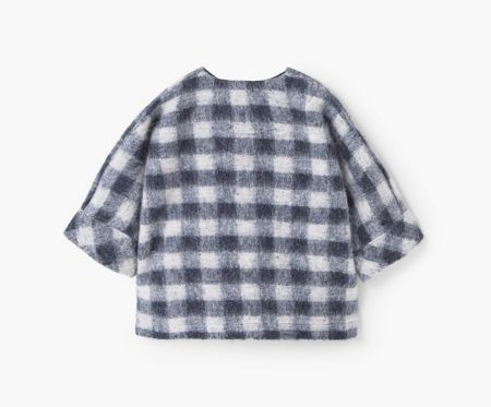 Mango Checked mohair-blend coat