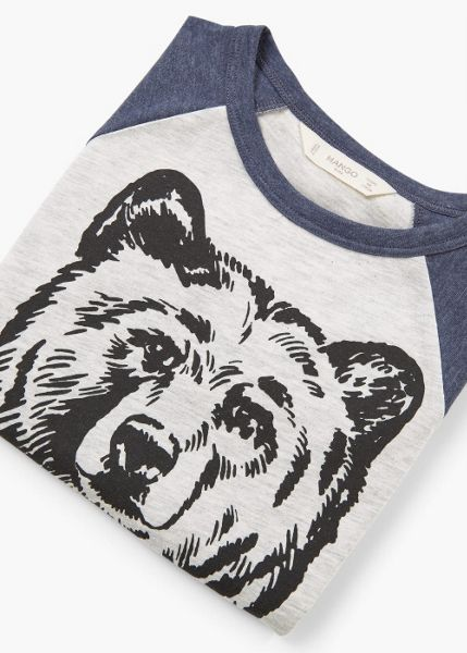 Mango Boys Cotton Mountain Bear T-Shirt